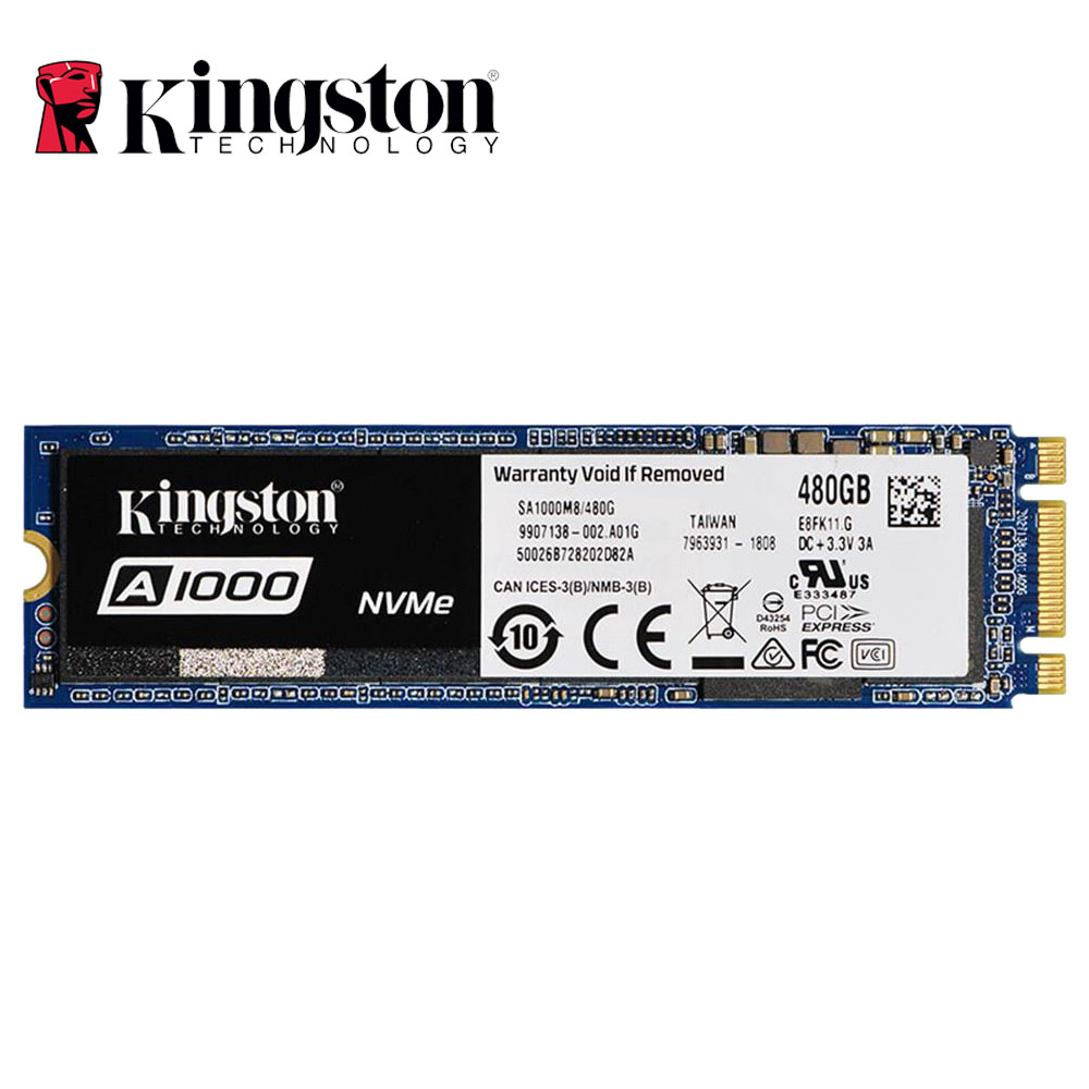 <font><b>Kingston</b></font> A1000 NVMe M.2 2280 SATA <font><b>SSD</b></font> <font><b>120GB</b></font> 240GB 480GB 960GB Internal Solid State Drive Hard Disk SFF For PC Notebook Ultrabook image