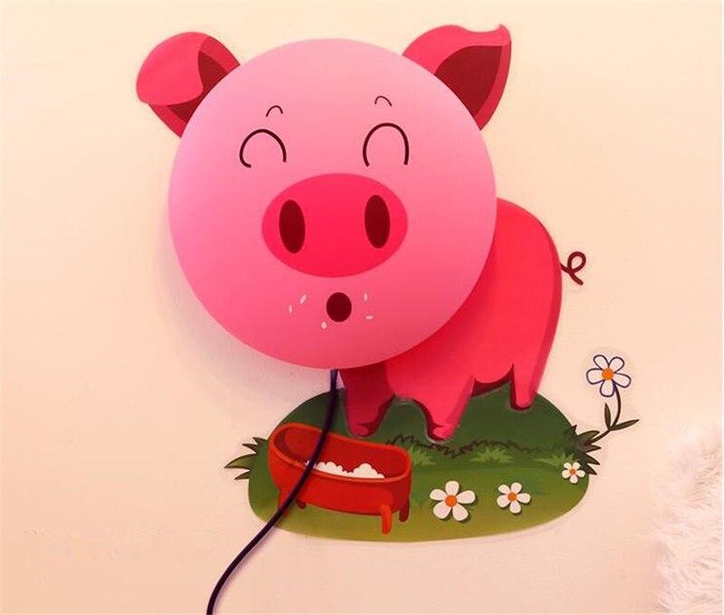Novelty Dog Pig Sunflower Cartoon Lamp Wall Sticker DIY Wallpaper Home Room Decor LED Animal Light Kid Child Baby Sleeping In Night Lights From
