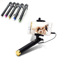 Universal Luxury mini Selfie Stick Monopod for Iphone samsung Android IOS Wired Palo Selfie Groove font