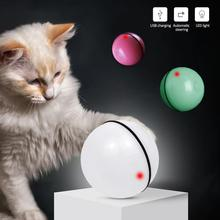 noroomaknet New Arrival Pet Cat Toy LED Light Ball USB Charging Smart Funny Automatic Rolling Training Toys