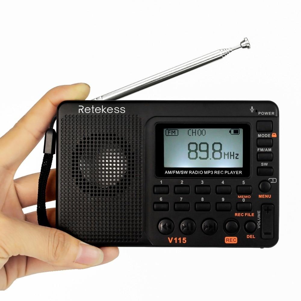 RETEKESS V115 რადიო მიმღები FM AM SW - პორტატული აუდიო და ვიდეო - ფოტო 2