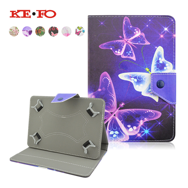 For Megafon Login 2 MT3A/Login 3 MT4A 7 inch Universal Butterfly Leather Stand Cover Case Universal 7.0 inch Tablet S4A92D
