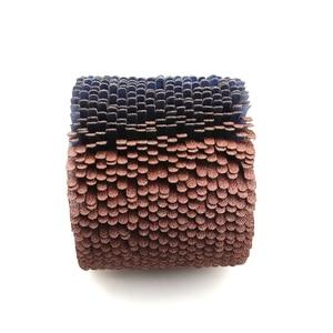 Image 4 - Roue de polissage à 4 rainures, 110x100x19mm, pour meubles en bois, finition irrégulière incurvée