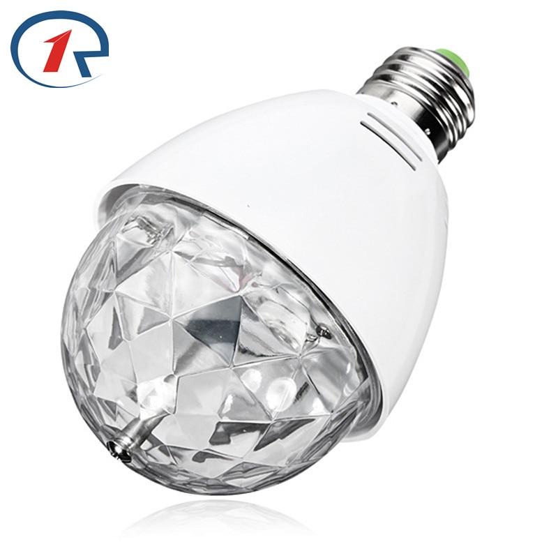 ZjRight led-lamput E27 3W vaihevalo RGB kristalli maaginen pallo pyörivä lamppu disko DJ vauva yön valo osapuoli joulu ktv valaistus