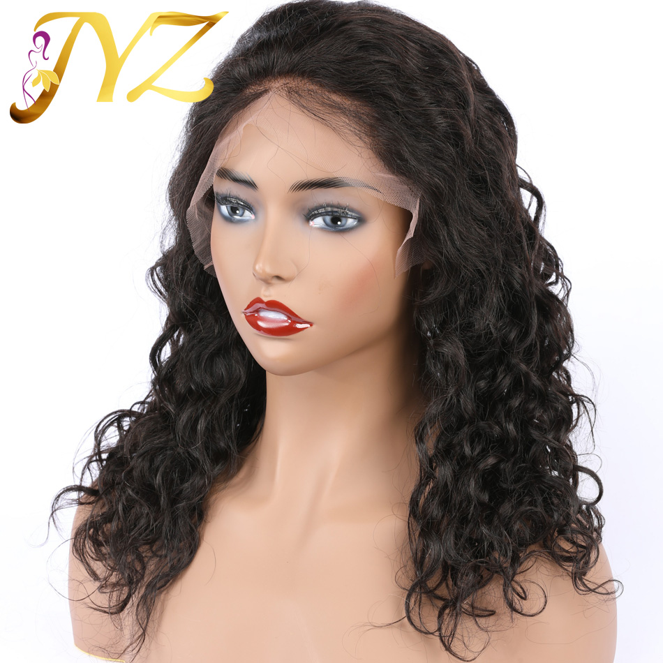 JYZ Hair Super Wave Human Hair Lace Wigs Pre Plucked Hair Line With Baby Hair Full End Lace Front Wigs For Black Women