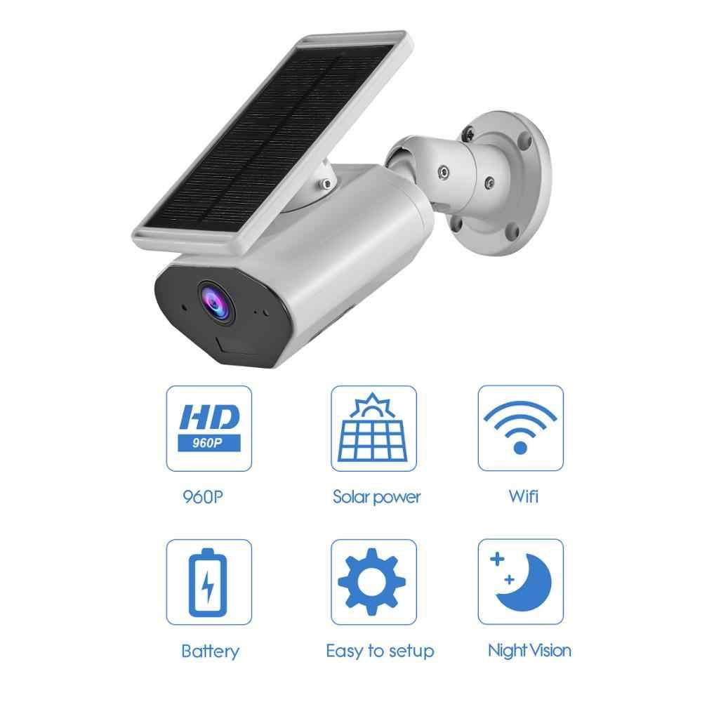 CTVISON في الهواء الطلق تعمل بالطاقة الشمسية WiFi اللاسلكية كاميرا مراقبة للمنزل ، بطارية قابلة للشحن ، IP66 للماء ، يعمل مع اليكسا