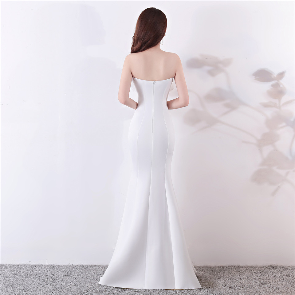 It's Yiiya evening dress Strapless Floor-length Trumpet Party gowns Sleeveless Elegant Zipper back Mermaid Prom dresses C141