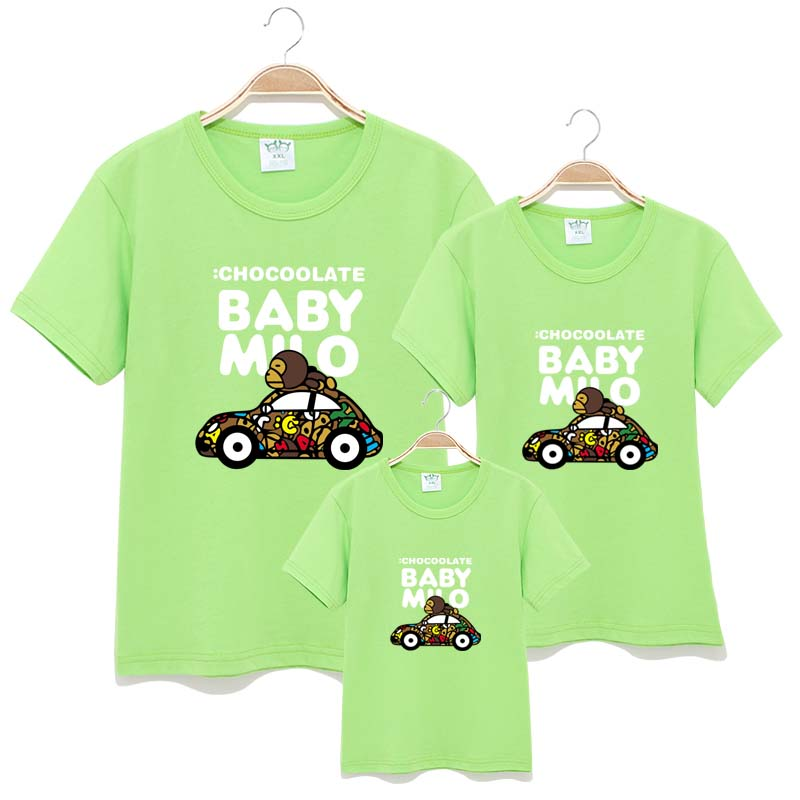 New Family Look Car Printed T Shirts 14 Colors Summer Family Clothes Father Mother Daughter Son Outfits family T Shirts 2016