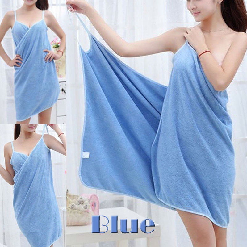 Fashion Women Bath Towel Wearable Fast Drying Magic Beach Spa Bathrobe Skirt Quick Dry Bathing Shower Soft Towels in Bath Towels from Home Garden