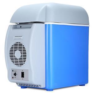 Image 1 - 12v 7.5Lミニポータブルカー冷蔵庫冷凍庫多機能クーラーウォーマー熱電電気冷蔵庫自動コンプレッサー
