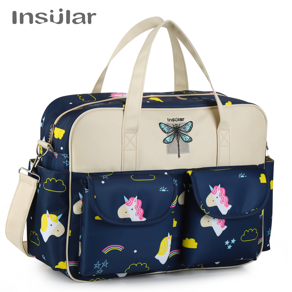 Insular New Style Waterproof Diaper Bag Large Capacity Messenger Travel Bag Multifunctional Maternity Mother Baby Stroller Bags