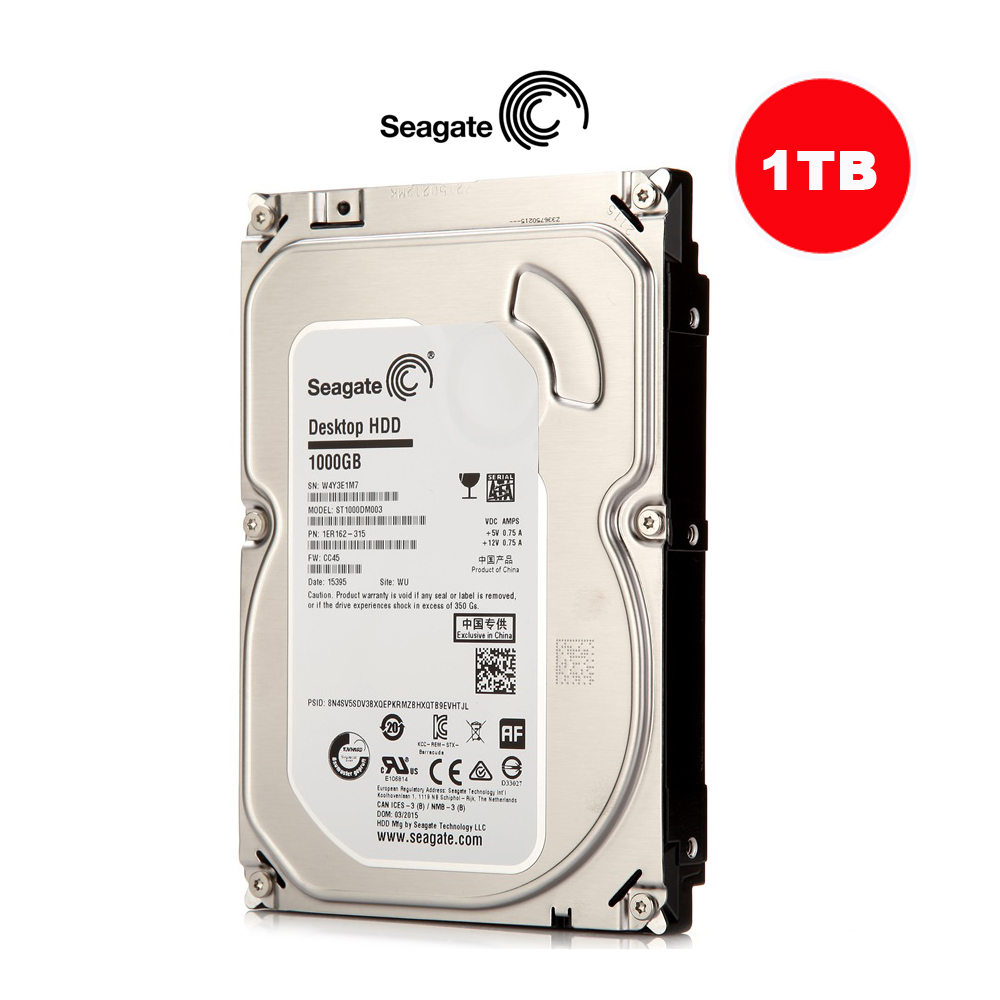 Seagate 3.5'' Inch SATA HDD 1TB Hard Drive Disk For CCTV Camera DVR NVR Security SYSTEM and PC new and retail package for 454273 001 mb1000ecwcq 1 tb 7 2k sata 3 5inch server hard disk drive 1 year warranty