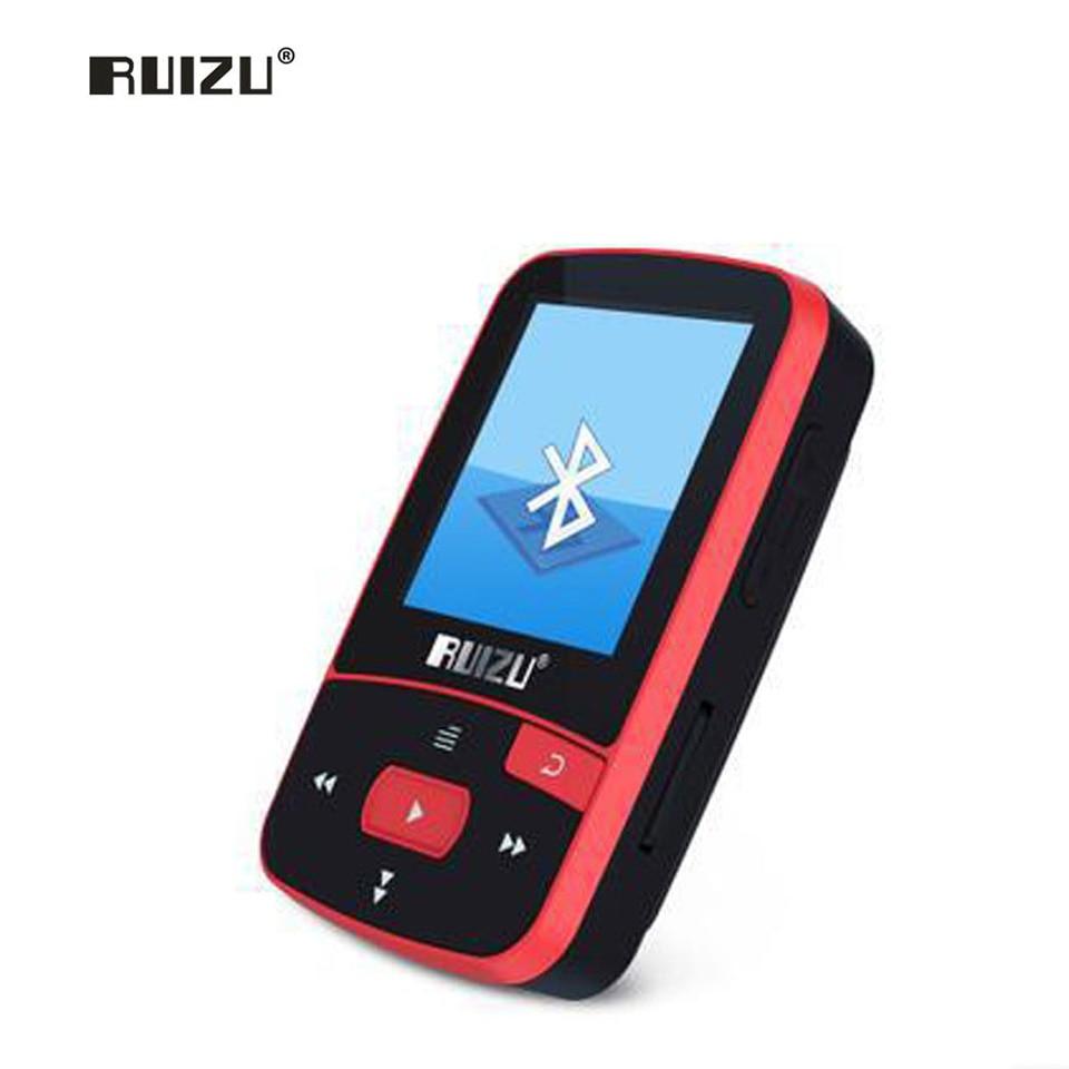 RUIZU X50 Sport Bluetooth MP3 music player Recorder FM Radio Supprot SD Card Clip Bluetooth MP3 player 8GB PK RUIZU X06 X18 X26 mp3 плеер 8gb mp3 tf 8 sd fm pk 4 2 16 mp3