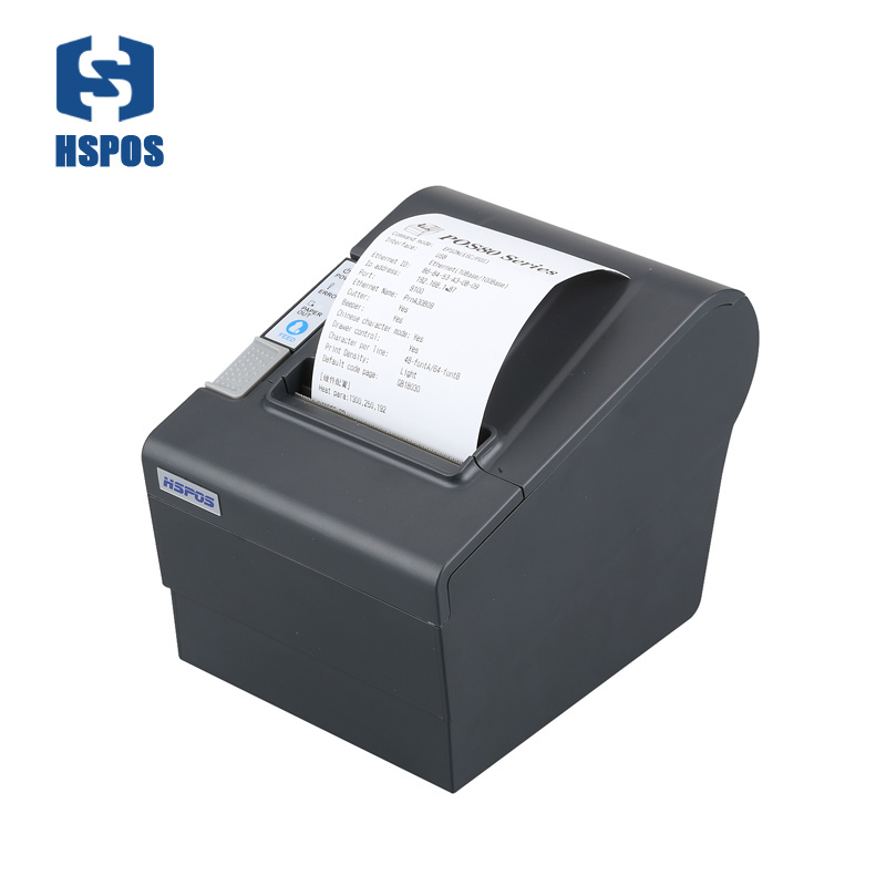 China factory manufacturer 80 mm thermal receipt printer with cutter USB and Serial interface support cash drawer print for sale