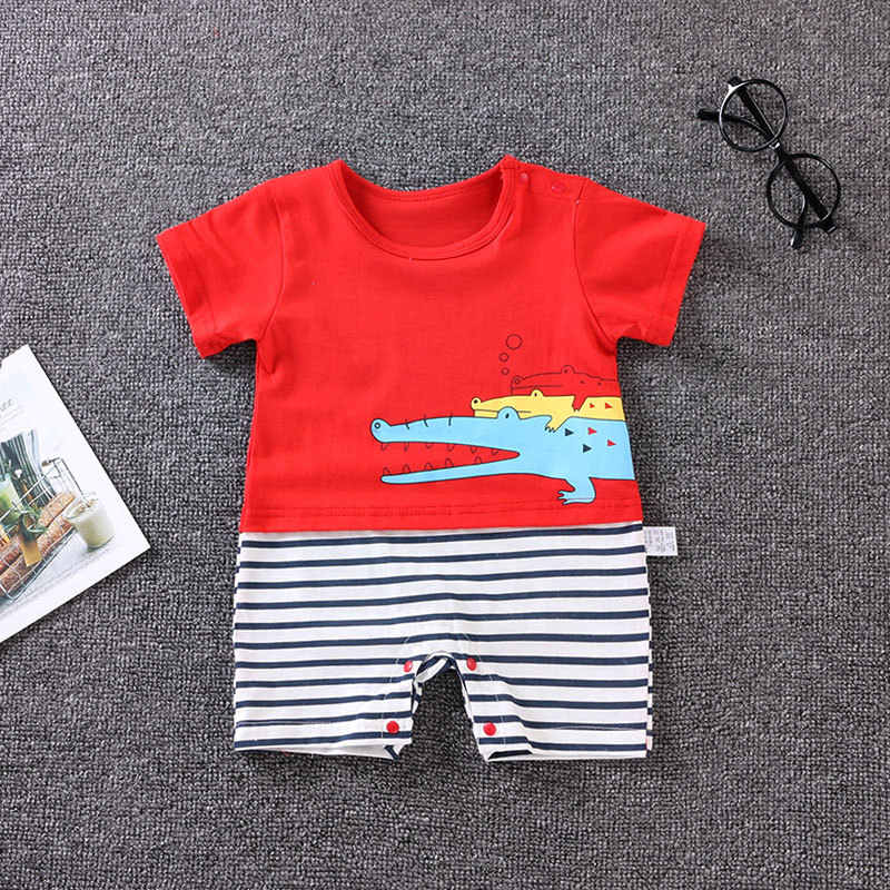 d790be12d4d ... summer newborn Baby Clothes Cotton Baby Girl Clothes Short Sleeve Baby  boys Clothing Jumpsuit for 0 ...