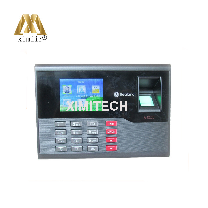Free RFID Card And Fingerprint Time Attendance TFT Time Recorder Clock System A-C120
