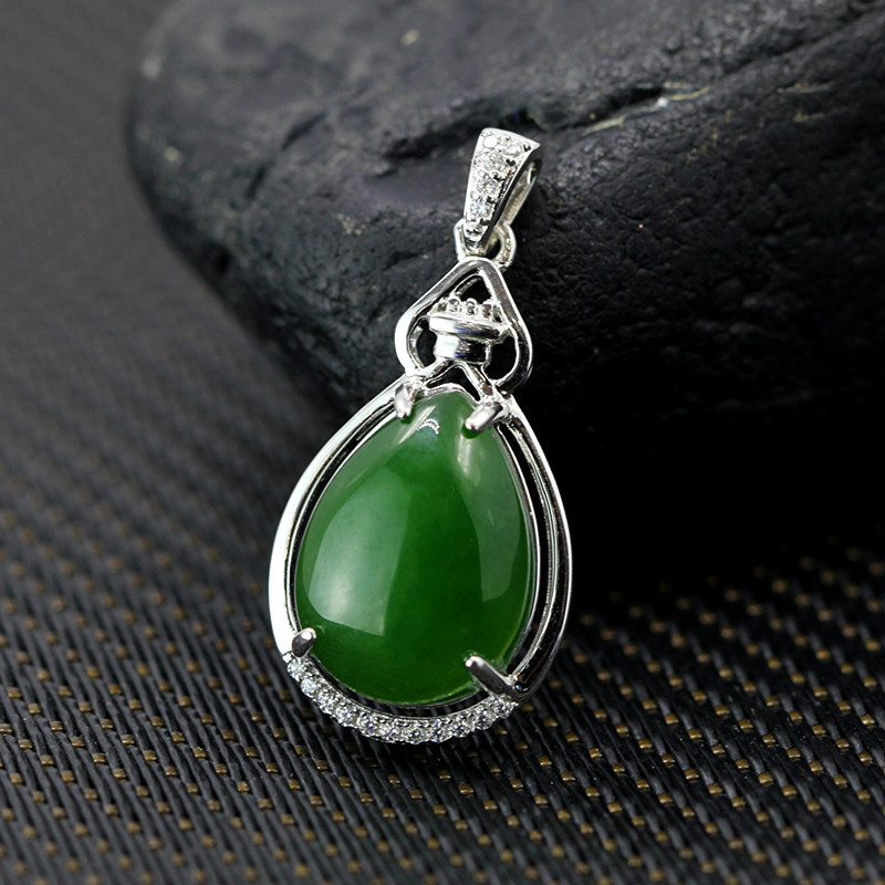 S925 sterling silver jewelry natural and Tian Biyu Drop PendantS925 sterling silver jewelry natural and Tian Biyu Drop Pendant