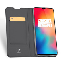 Original Dux Ducis Pu Leather Case For One Plus 6t Coque Luxury Ultra Thin Flip Wallet Stand Cover Phone Cases Oneplus