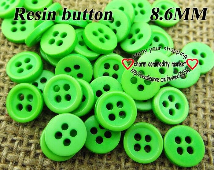 ᗔColor Verde 300 unids falda resina botones 8.6mm para coser Botón ...