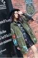 Melinda Style 2017 new women fashion jacekt rivet tassel decorated casual coat outwear free shipping