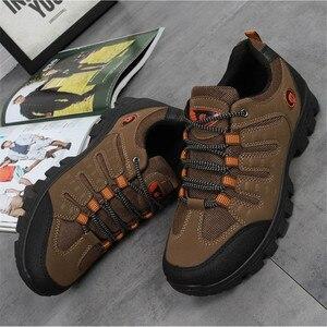 Image 5 - JXGXSX גברים של עבודה נעליים חיצוני נעלי ספורט גברים רשת נעלי החלקה ללבוש עמיד נעלי דיג זכר מדבר מגפי זרוק חינם