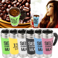 Coffee Mug 350ml Stainless Steel Lazy Automatic Self Stirring Mug Auto Mixing Tea Coffee Cup For