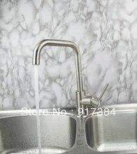 Латунь Кухня бассейна кран поворотным 360 носик Тщеславие смесителя Одной ручкой JN92325