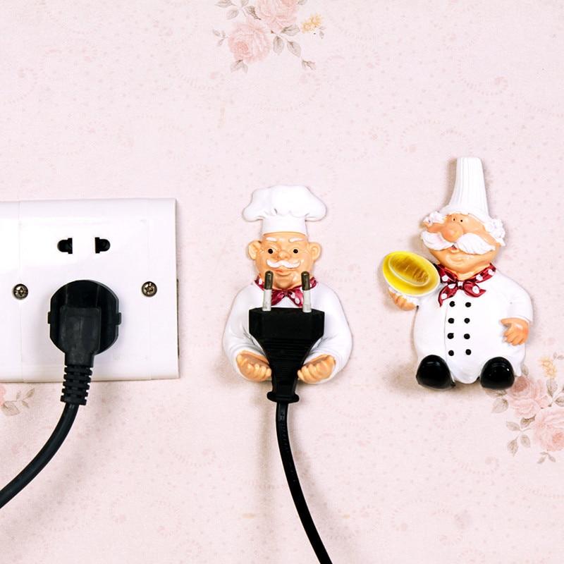 2pcs/lot Cute Self Adhesive Wall Plug Holder 1