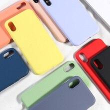 シンプルなキャンディーカラーの携帯電話ケース iPhone XS MAX X XR 7 8 プラスソフト TPU シリコン裏表紙 iPhone 6 6 s プラスニューファッションキャパ