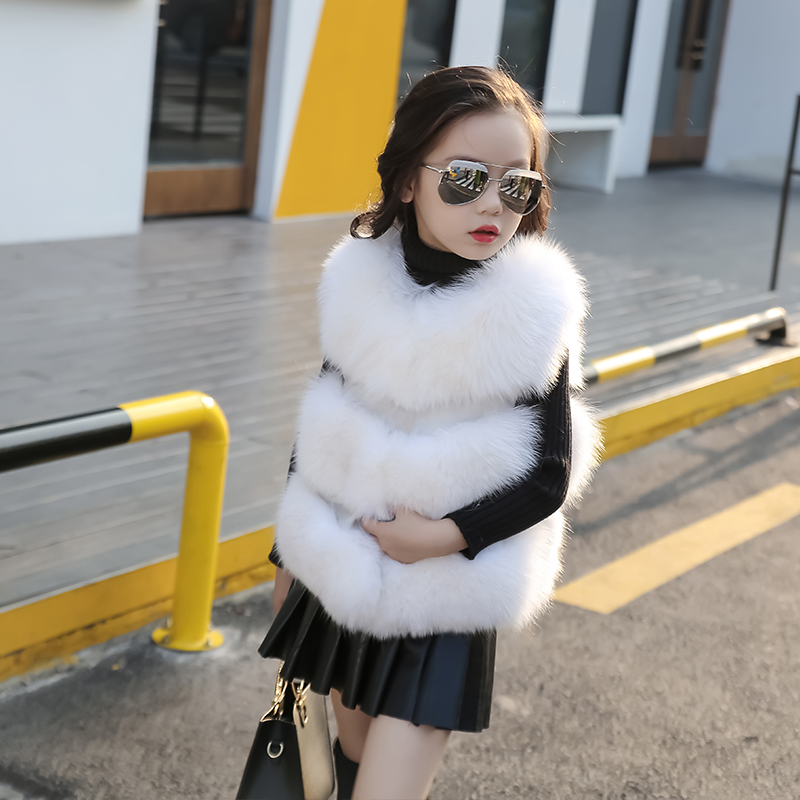 1ca0a047555c 2 14T Fashion Baby Girls Faux Fur Vest Top Quality Fur Thicken ...