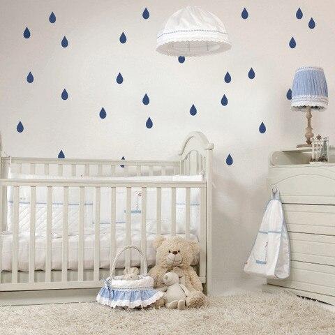 Water Drop Pattern Wall Sticker For Nursery Raindrop Children Wall ...