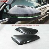 ABS Chrome Retrovisor Porta Lateral Espelhos Capa de fibra de carbono Espelhos Retrovisores Covers Guarnição Para Skoda Kodiaq 2016 2017 acessórios do carro