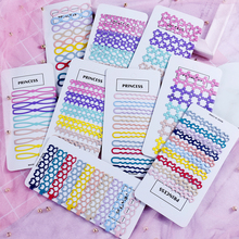 New Hair Clips Candy Color Macarons Girls Heart Wave Word Clip Cross Steel Chuck Hair Style Side Hairpins Hair Accessories 6.5cm