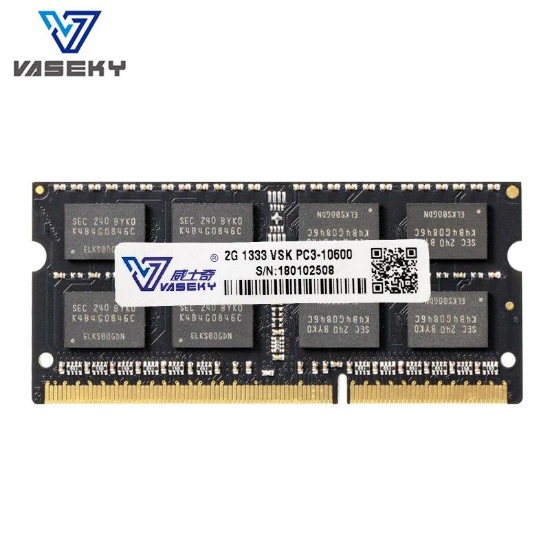 Vaseky 2 gb 4 gb 8 gb 2g 4g 8g Ordinateur Portable portable Mémoire RAM Memoria Module Ordinateur PC3 DDR3 10600 12800 s 1600 mhz 1333 mhz RAM