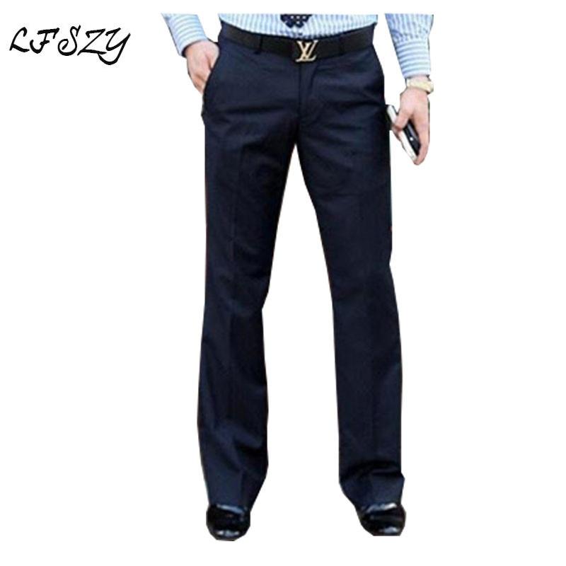 2019 New Men's Flared Trousers Formal Pants Bell Bottom Pant Dance White Suit Pants Mens Dress Pants Size 28-37