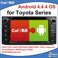 C100 Android 4.4.4 Car DVD GPS Radio Audio Navigation Player for Toyota Series Camry Corolla Highlander Yaris RAV4 Hilux Vios