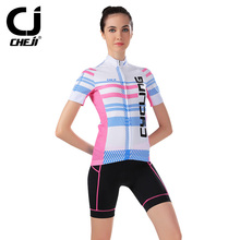 Hot Sales cheji Women Summer Professional Cycling Jersey Female Cycling Sets Bike Riding Bicycle Workout Fitness Jersey