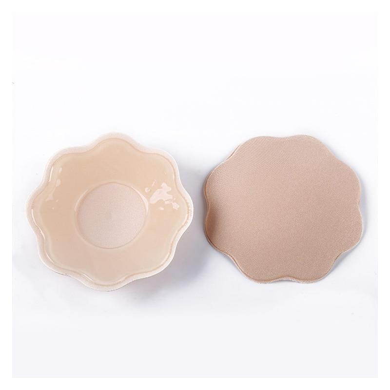 Buy 2PCS Women Reusable Self Adhesive Bra Silicone Breast Petal Nipple Cover Pads Pasties Nipple Cover Bra Pad Skin Adhesive Party