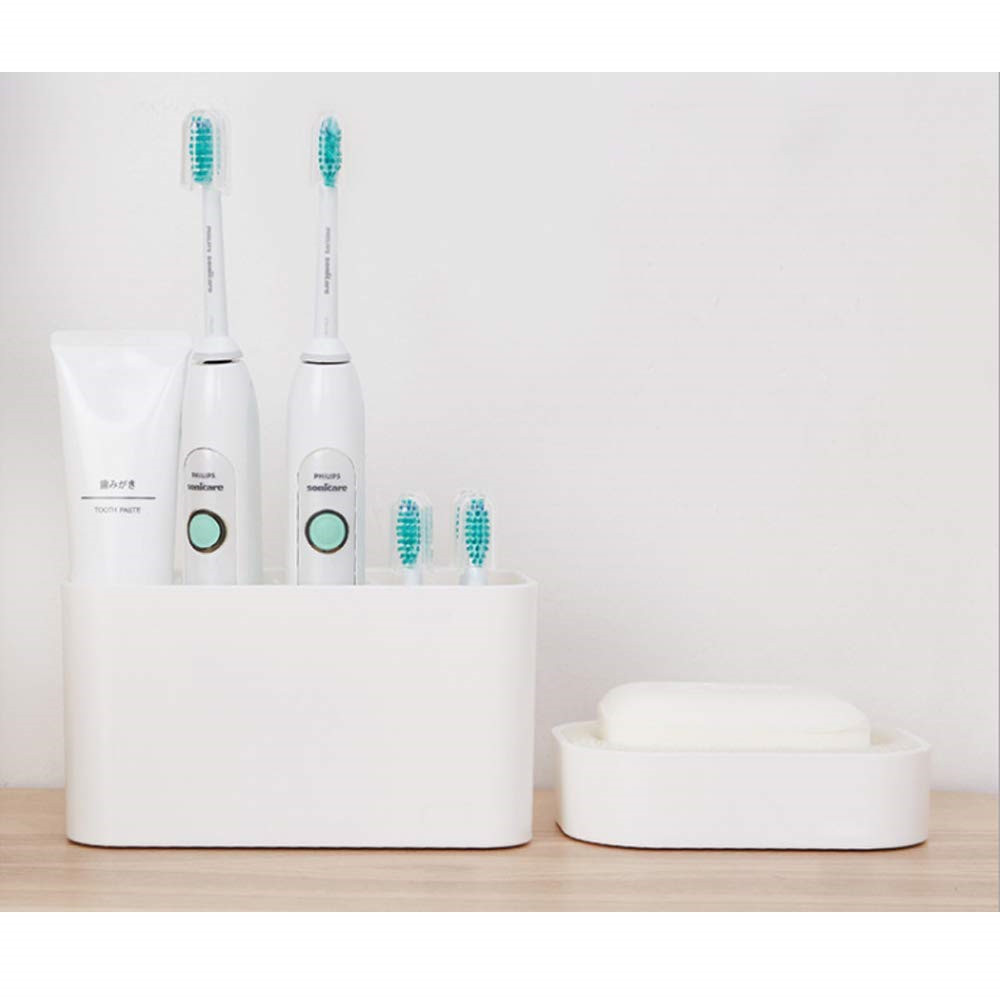Binoster Toothbrush holder, Bathroom Electric Toothbrush caddy Save Space No Drill Wall Mount suction toothbrush holder image