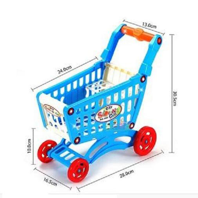 Stroller For Dolls DIY Assembly Mini Shopping Cart Child Supermarket Grocery Trolley Toy Carriages Plastic Dollhouse Miniature