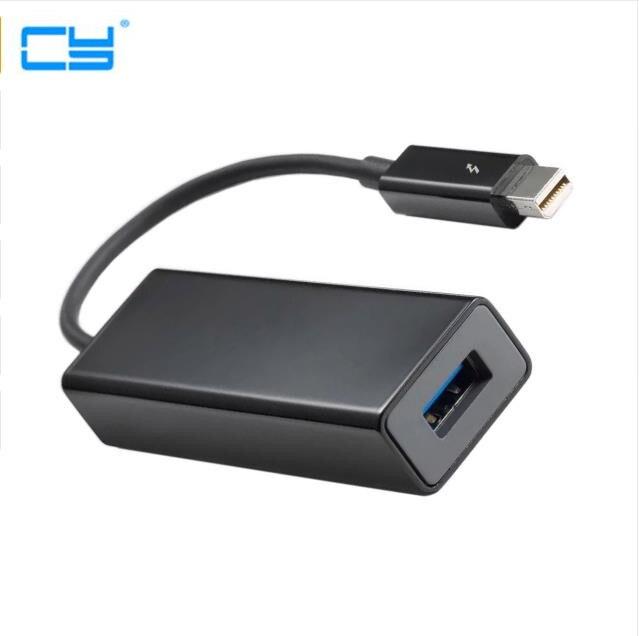2 pièces/1 pièces Haute Qualité Port Thunderbolt vers USB 3.0 Super Vitesse Disque Dur Adaptateur Dongle Livraison Gratuite numéro de suivi