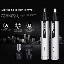 CkeyiN 3 in1 Electric Ear Nose Trimmer for Men's Shaver Rechargeable Hair Remova