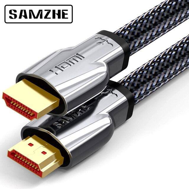 SAMZHE 4K @ 60Hz HDMI 2.0 Dây Cáp kết NỐI HDMI TO HDMI Cáp Dù cho PS3 Máy Chiếu LCD Apple TRUYỀN HÌNH Máy Tính laptop để Displayer
