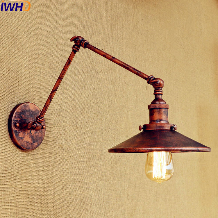 IWHD Loft Retro Wall Lamp LED Edison Sconce Wandlamp Swing Long Arm Vintage Wall Light Sconce Lampara Pared Industrial LightingIWHD Loft Retro Wall Lamp LED Edison Sconce Wandlamp Swing Long Arm Vintage Wall Light Sconce Lampara Pared Industrial Lighting