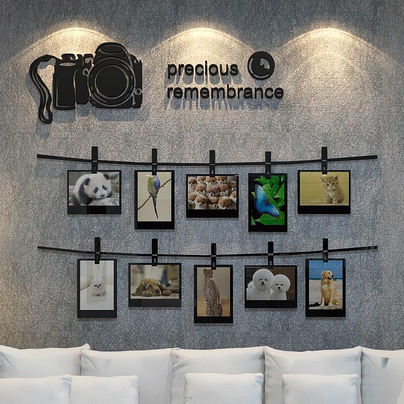 Фото наклейка для стены, акриловая стерео 10х 5 дюймовая фоторамка стикер на стену, гостиная диван фон украшение на стену