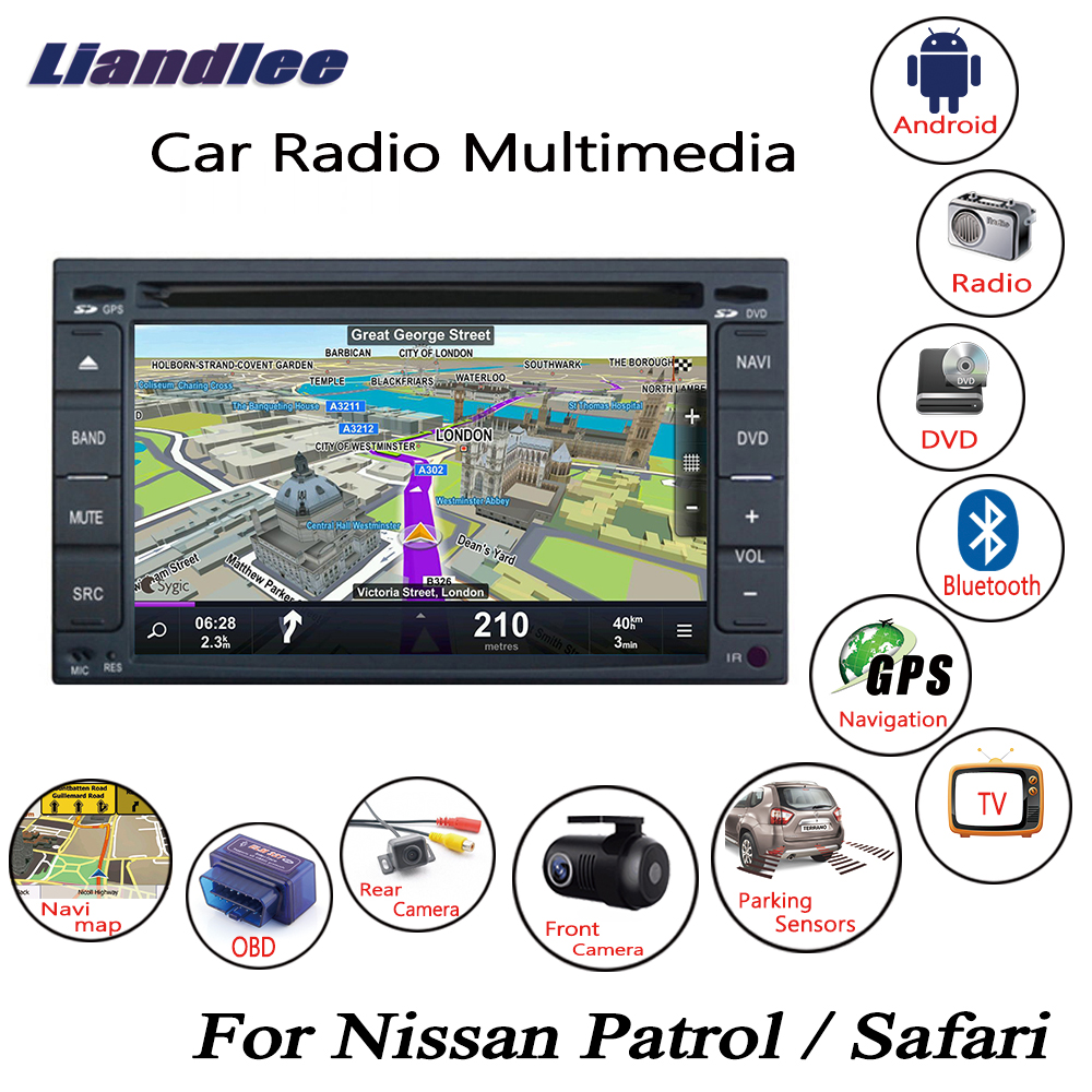 Liandlee For Nissan Patrol / Safari 2001~2010 Android Car Radio CD DVD Player GPS Navi Navigation Maps Camera OBD TV HD screen