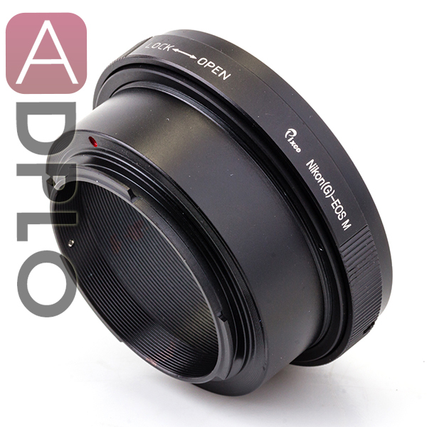 Aperture Control Adapter Ring Suit For Nikon G AF-S AI F Mount Lens To Canon EOS M EOS M2 EF-M EOS-M Adapter Mirrorless Camera