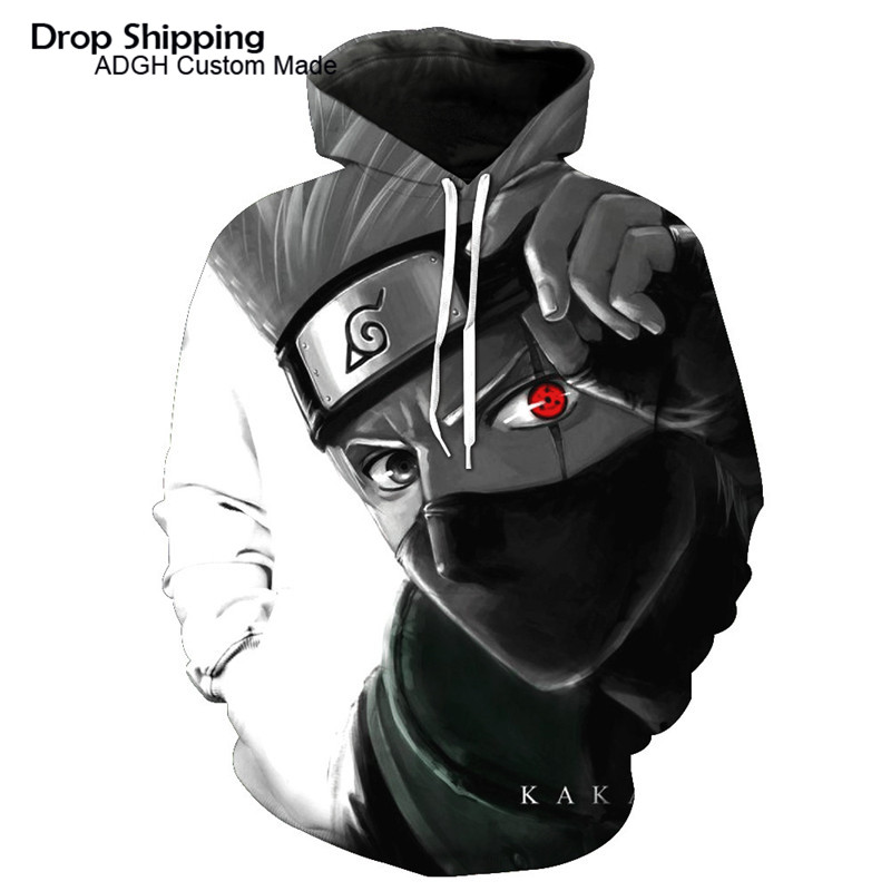 c8dd1cb17 Japanese Streetwear Naruto Hoodie Hatake Kakashi Sweatshirt Anime Jacket  Hiphop Custom Made Men Hoodies & Sweatshirts 3D Print-in Hoodies &  Sweatshirts from ...