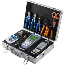 22 шт. FTTH волоконно-оптический набор инструментов волоконно-оптический измеритель+ 10 мВт VFL Визуальный дефектоскоп и FC-6S волоконно-оптический Кливер