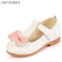 Xinfstreet פעוט נסיכת נעלי בנות נעלי ילדים עבור בנות תינוק רך עור Hotsale פניני גודל לבן 21-30